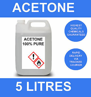 5 Litre Acetone 5000Ml 5L Nail Varnish Remover Cleaner Solvent