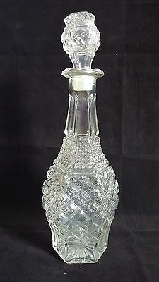 Vintage Anchor Hocking Wexford 32oz Glass Decanter with Stopper 14 3/8 inch Tall