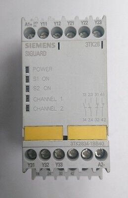 Siemens 3TK28 SIGUARD Safety Relay PRESSCOMBO (3TK2834-1BB40)