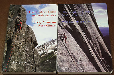 CGNA US WEST COAST & ROCKIES CLIMBING ROUTES MAPS for ROCK CLIMBERS JOHN HARLIN