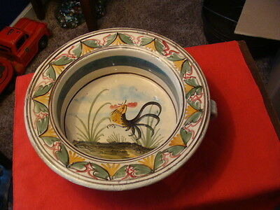 Awesome odd unique Victorian Rooster Chamber Pot as is Potty bowl What is it ?