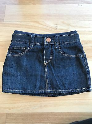 Baby Gap 1969 Size 12-18 Months Dark Blue Jean Skirt