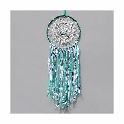 Szezon Dream Catcher Boho Handmade Traditional Shape with White Cotton Croche...