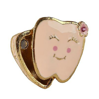 Home-X Pink Tooth Trinket Box. Girl