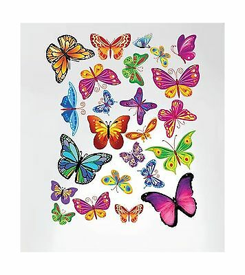 Innovative Stencils 3005 Easy Peel and Stick Colorful Butterflies Nursery Dec...