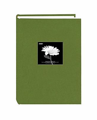 Fabric Frame Cover Photo Album 300 Pockets Hold 4x6 Photos Herbal Green