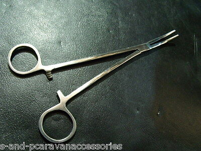 """Curved Forceps 8"""" Stainless Steel"""