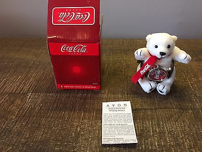 Vintage Retired Coca Cola Watch New With Plush Polar Bear