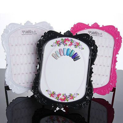 Double-sided Nail Art Display Stand Gel Polish Color Card Flower Design Manicure