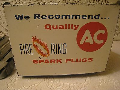 Vintage AC Spark Plug FireRing Catalog Display Rack Cabinet gas station man cave