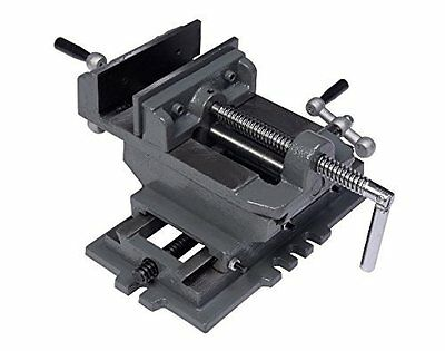 "New 5"" Cross Drill Press Vise X-Y Clamp Machine Slide Metal Milling 2 Way"