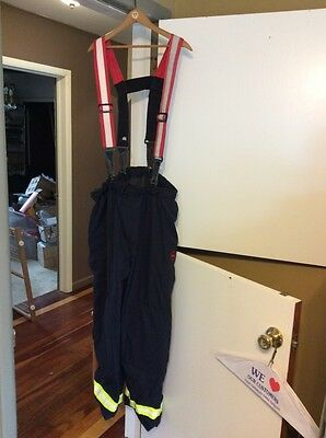 Globe EMS turnout pants size 2 X & SG Seco Gear Suspenders