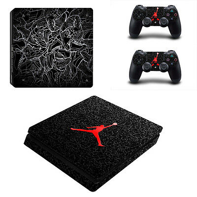 Air Jordan Logo Skin Sticker Cover Decal For Sony PS4 Slim Console&Controllers