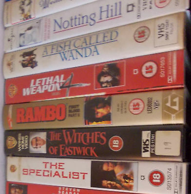 Job Lot Vhs Films Only Watched Once