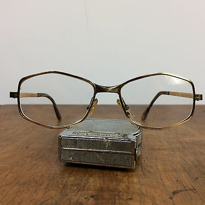 Vintage Hexagon gold filled Corret Eyeglasses frames Glasses 14K