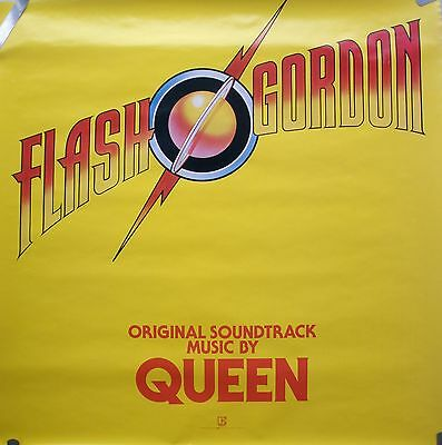 Rare Queen Flash Gordon 1980 Vintage Original Music Record Store Promo Poster