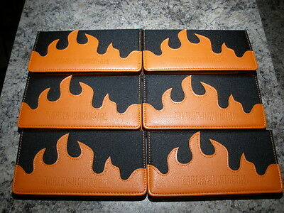Lot Of 6 New Old Stock Harley Davidson Check Book Cover Holder / Wallet