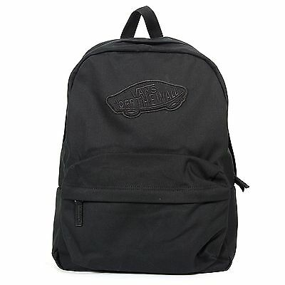 Vans Unisex Realm Backpack Canvas Onyx Black-Black-N/A