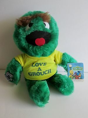 Vintage SESAME STREET Applause OSCAR THE GROUCH Plush Toy STUFFED Tag #5940 12""
