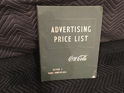 Vintage Original Coca Cola Advertising Price List Manual Section 3 Sign Displays