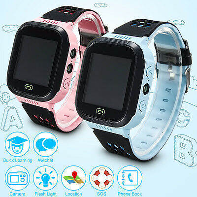 Anti-lost Children Kids Smart LBS Tracker Wrist Watch SOS Call For Android IOS