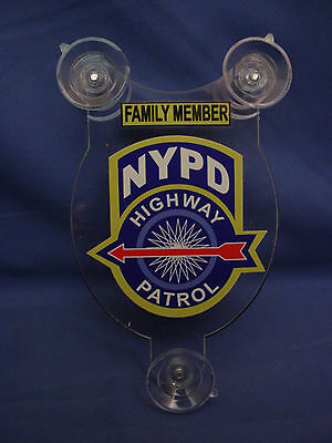 Nypd Highway Patrol  Ny Police Pba  Family Member  Car Shield  Pba Fop