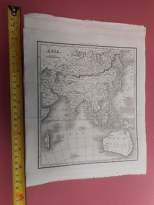 100% Original Asia New Holland China Map By Walker C1822 Vgc