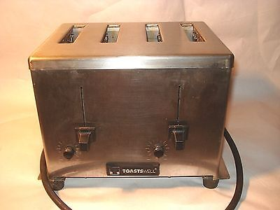 TOASTWELL Model 9A-BTM4 Commercial 4 SLICE Toaster USA Stainless STEEL