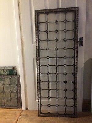 Hand Painted Leaded Glass Panel