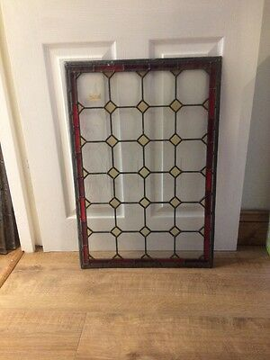 Leaded Glass Panel . Hand Painted
