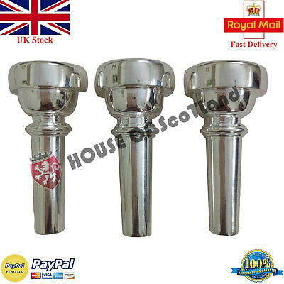 New Professional Silver Plated Bb Bugle Mouth Pieces 5C/Brass Bugle MouthPiece