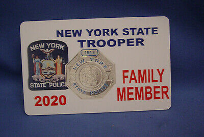 2018 Nysp  New York State Police  Card Family Member Pba Fop