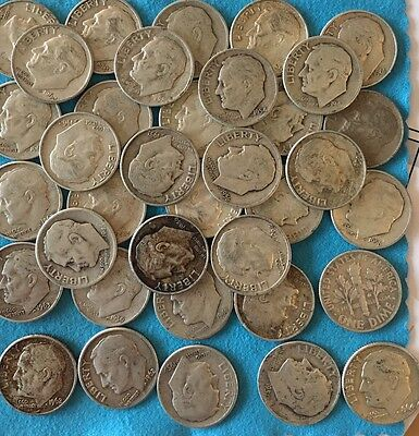 Lot of 36 Roosevelt Silver Dimes
