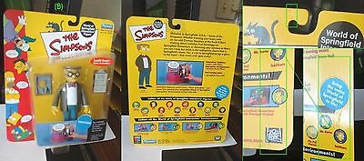 The Simpsons Playmates Carded WOS Series 2 Smithers Interactive Figure MOC