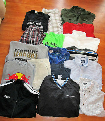 Lot of 50 Mixed Boys Brand Name Clothes Clothing Size 14 16 18 20