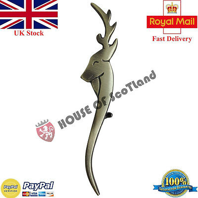 New Scottish Kilt Pin Stag Head Antique Finish/Kilt Pins Highland Wear/Brooches