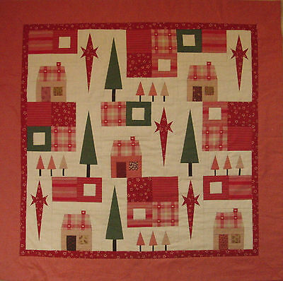 Christmas patchwork quilt kit with instructions and fabric 'Home for Christmas'