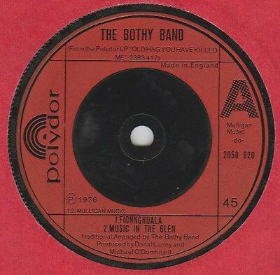 """Bothy Band """"Fionnghuala/Music In The Glen/The Ballintore Fancy"""" Polydor 1976 7"""""""