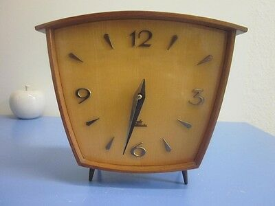 Mid-century Kundo German shelf clock TEAK vintage table clock modernist