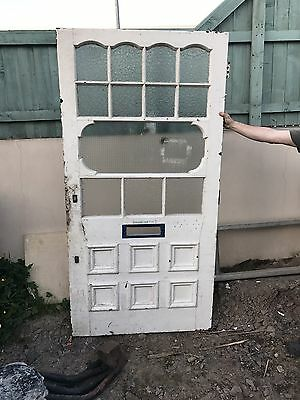 Old Reclaimed Original Vintage Antique Victorian Edwardian External Front Door