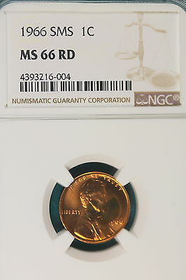 1966-P NGC MS66 RED Lincoln Memorial Cent!! #B3615