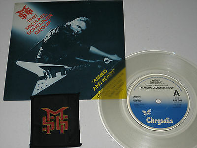 "Michael Schenker Group - Armed and Ready (Chrysalis 7"" Clear Vinyl-1980 + Patch)"