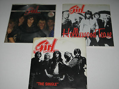 """Girl - My Number + Do You Love Me + Hollywood Tease (3x 7""""s Sold Together)"""
