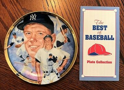 Rare The Legendary Mickey Mantle Best Of Baseball Collector Plate Hamilton Coll.