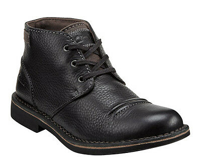 Clarks Medway Smith Black Oily Mens Ankle Boots