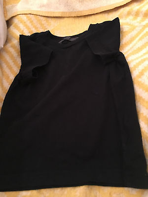 lovely boys fashion H&M black short sleeved top age 1-2 years