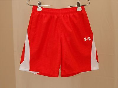 Under Armour Youth Sz Medium Orange White Loose Shorts