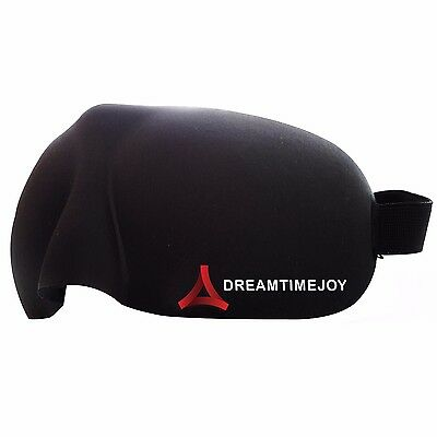 Soft Padded Blindfold 3D Eye Mask Travel Sleep Rest Aid Shade Cover Unisex Black