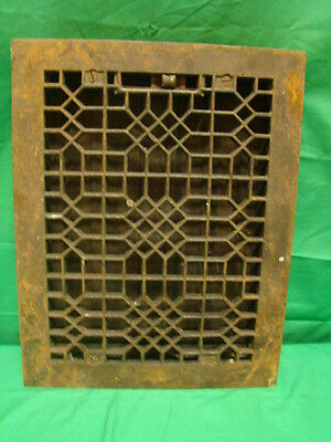 Antique Late 1800's Cast Iron Heating Grate Unique Ornate Design 13.75 X 10.75 K