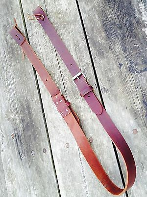 "US made latigo leather complete flank/rear cinch for Western saddle 1.75"" wide"